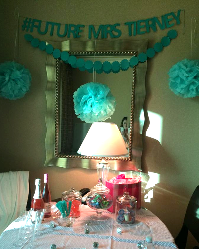 Pink and Teal bachelorette