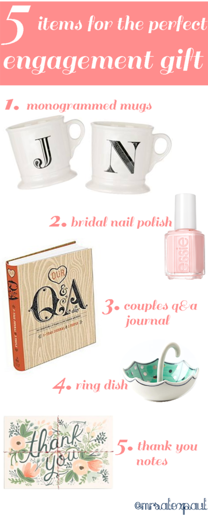 5 items for the perfect engagement gift