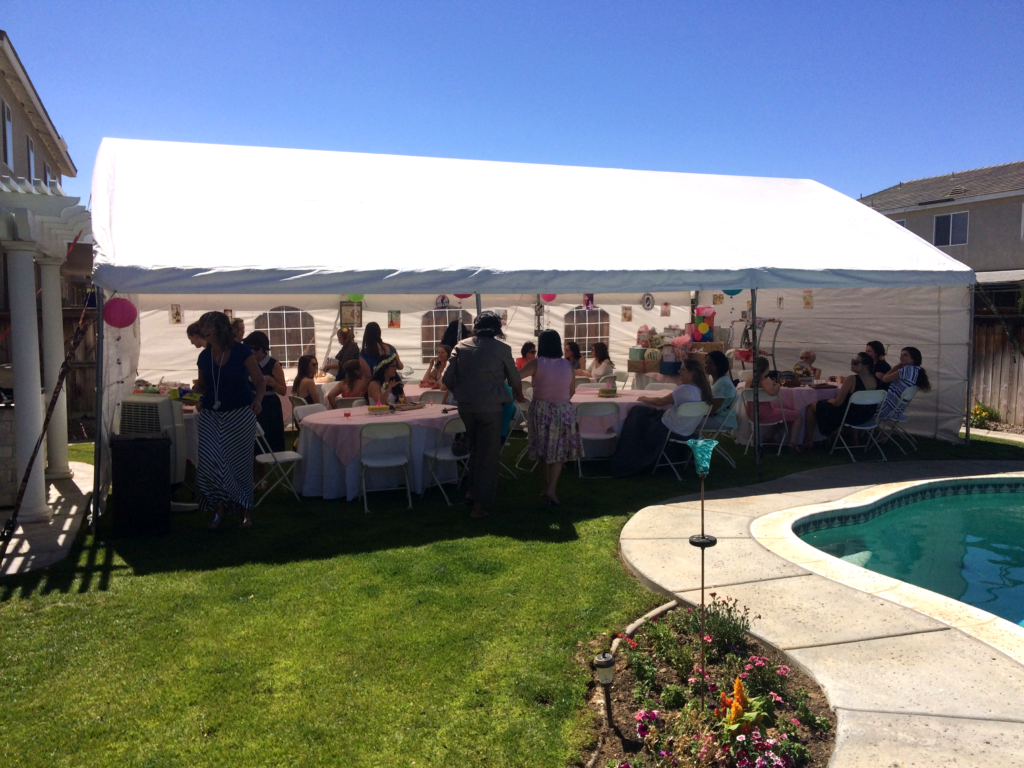Bridal Shower Tent