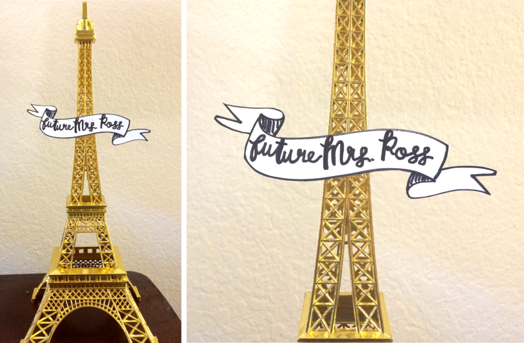Gold Eiffel Tower Future Mrs. Ross