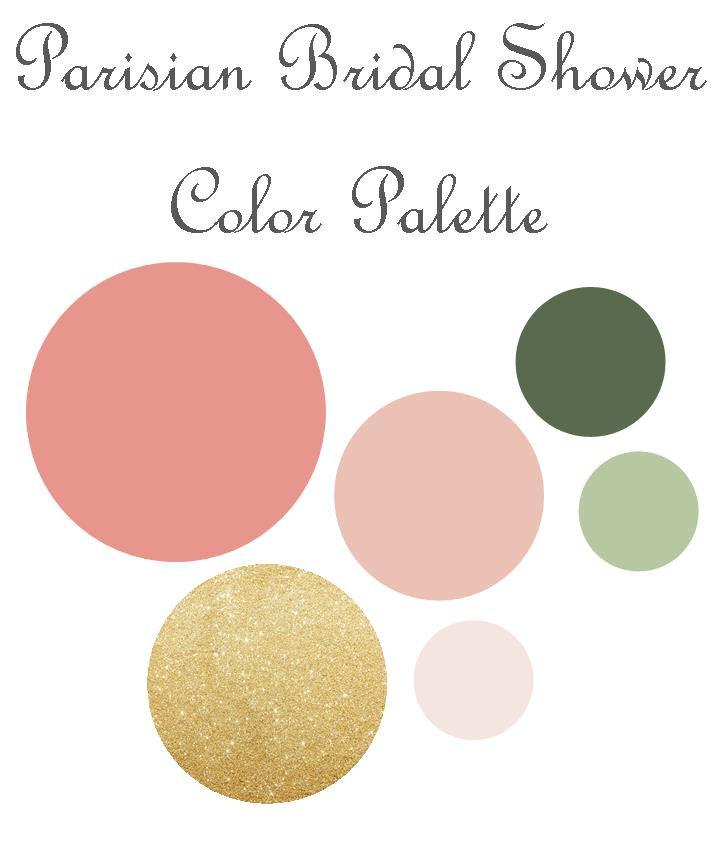 Parisian Bridal Shower Color Palette