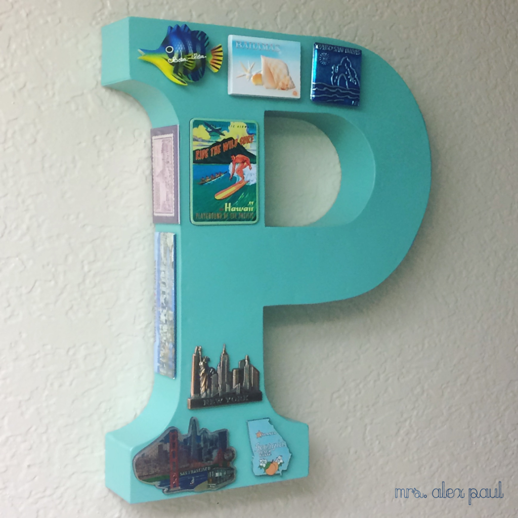 Monogram with Travel Magnets