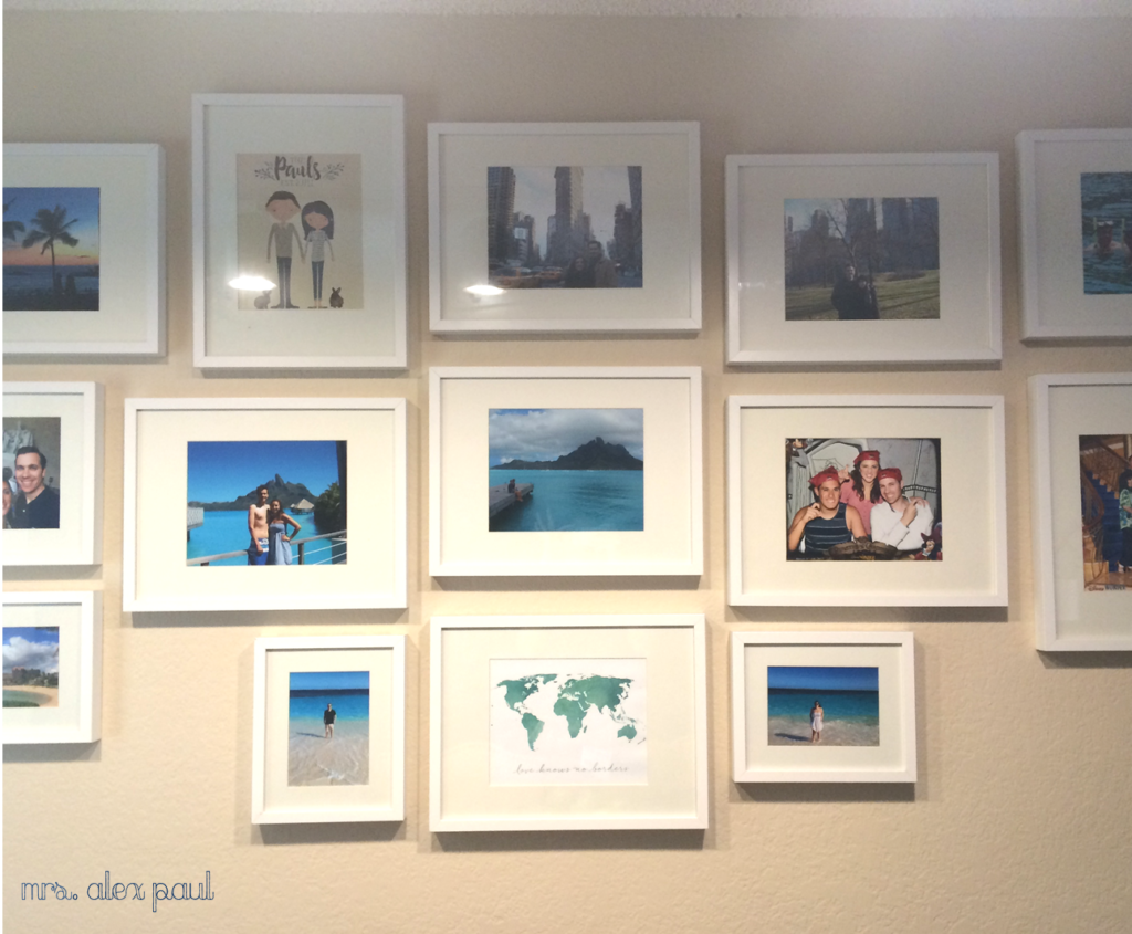 Travel Gallery Wall Closeup