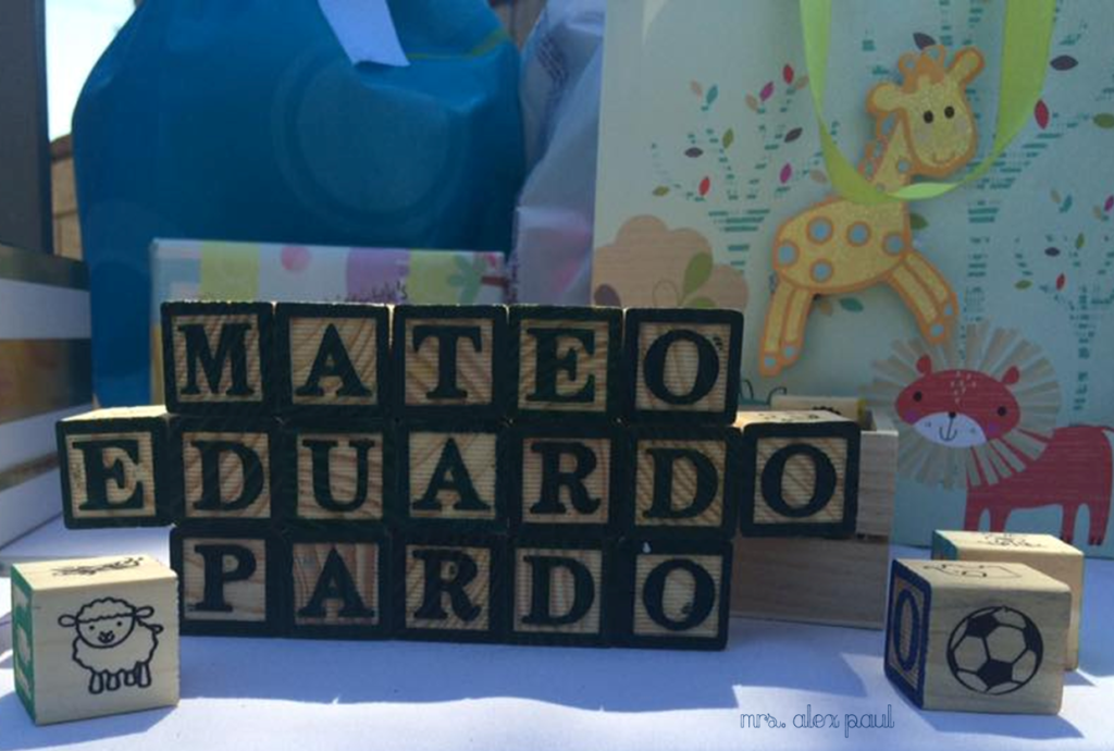 Baby Name in Letter Blocks