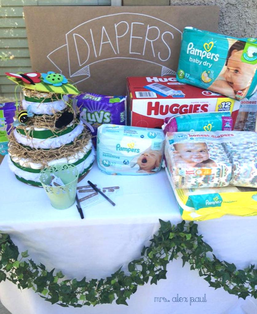 Baby Shower Diaper Table