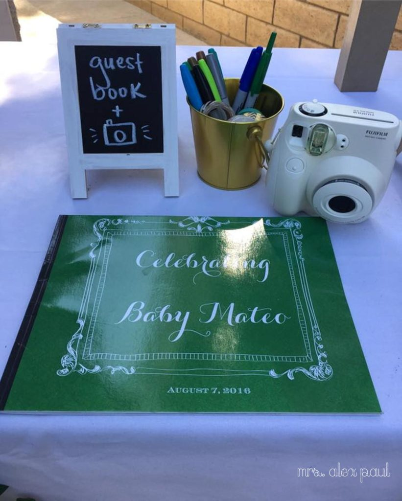 Baby Shower Guestbook and Polaroid