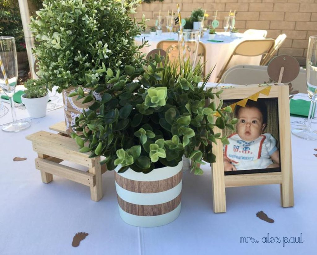 Rustic Baby Shower Centerpieces