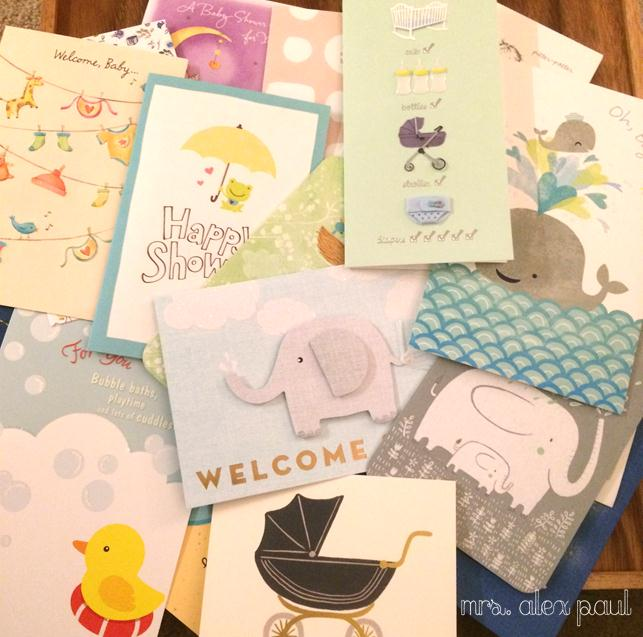 Diy mrs alex paul yes i want all the laundry done and bathrooms cleaned but the one thing that was driving me crazye greeting cards from my baby shower solutioingenieria Choice Image